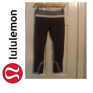 Lululemon Run Inspire Crop II Coal/Heathered/White